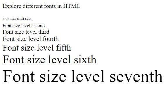 How to set Font Size in HTML?, www.programmingtutorial.in