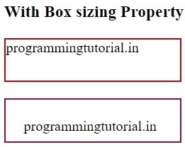 With box-sizing property in CSS, www.programmingtutorial.in