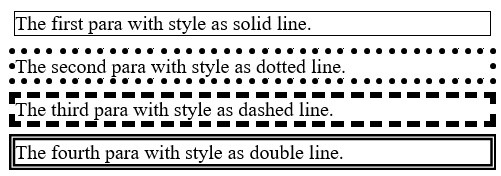 outline-style property in CSS, www.programmingtutorial.in