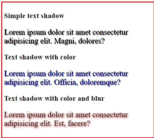 text-shadow in CSS, www.programmingtutorial.in